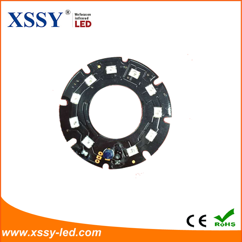 XSSY Infrared pcb board 14mil Micro 2835 LED 10pcs 44mm 45degree and 60degree 850nm IR pcb board