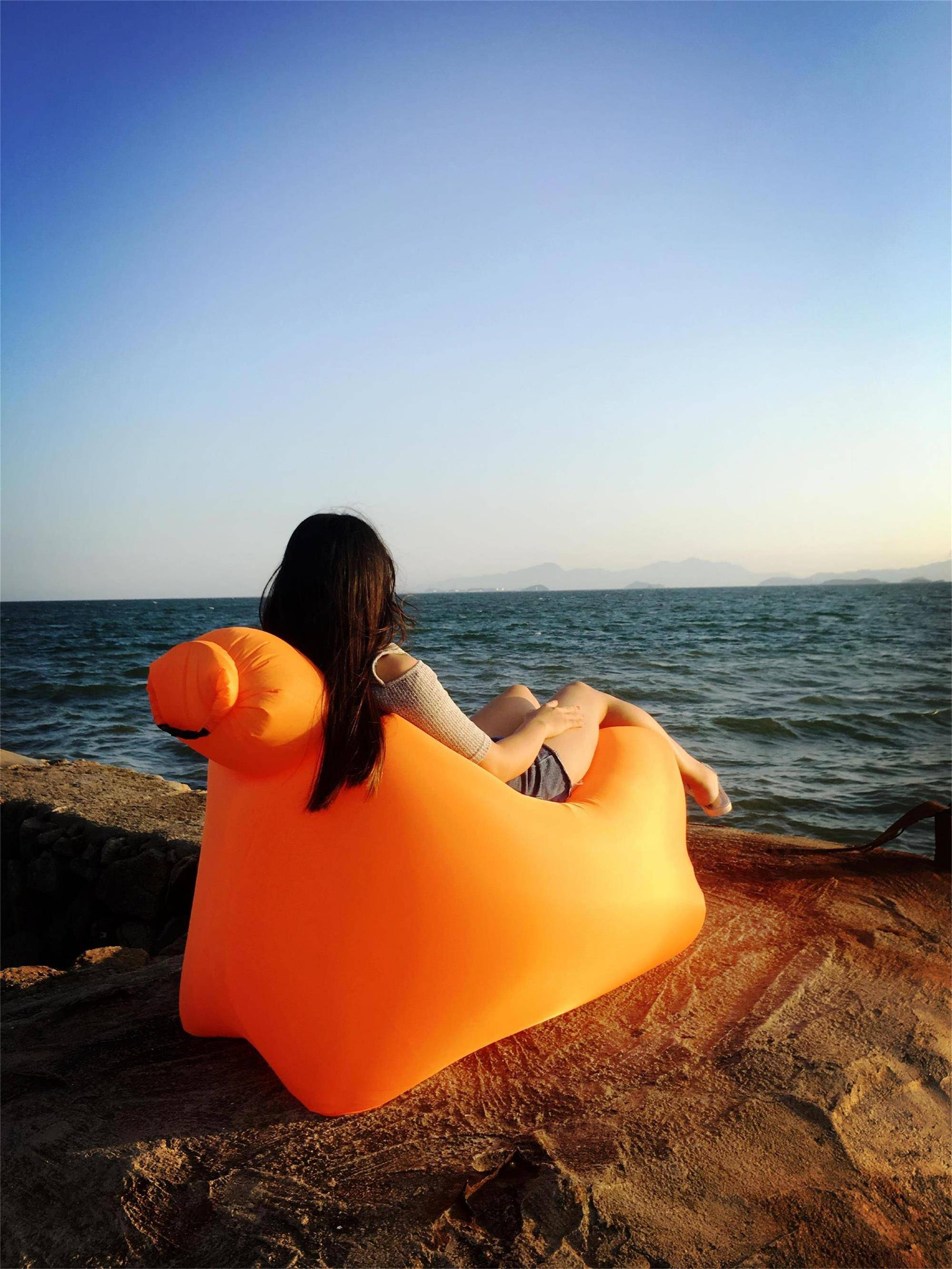 New Design Inflatable camping chair, Bed Inflatable Laybag With High Quality