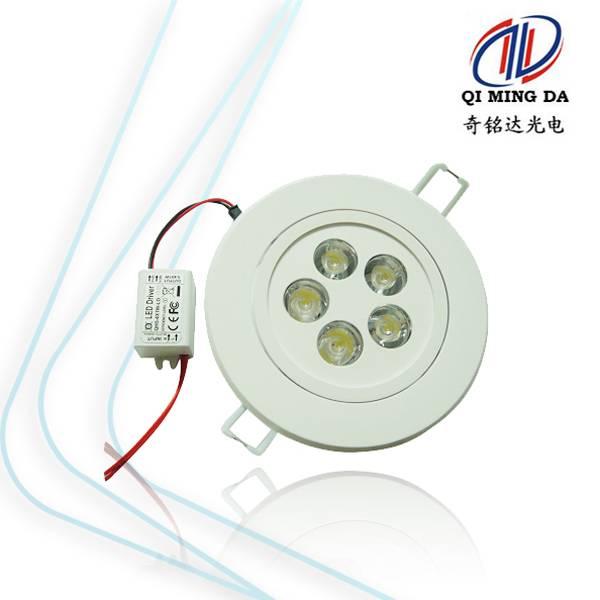 5w ABS + Aluminum heatsink led panel light