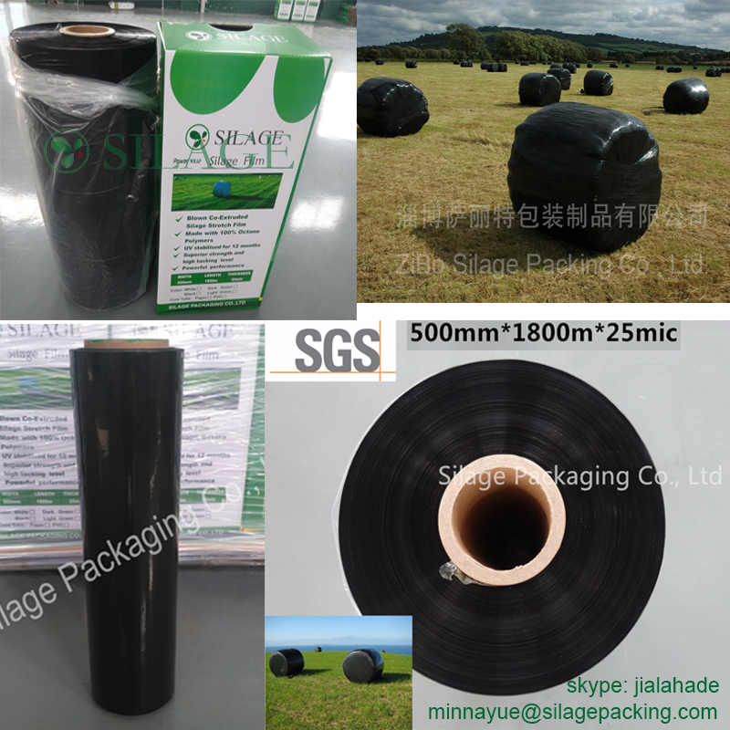 hot sale black silage film,safe packing film for forage,silage black film,plastic silage film