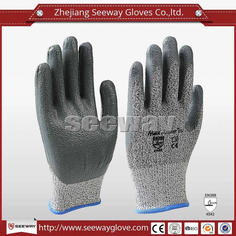 SeeWay B512 HDPE cut resistant Nitrile Coated gloves