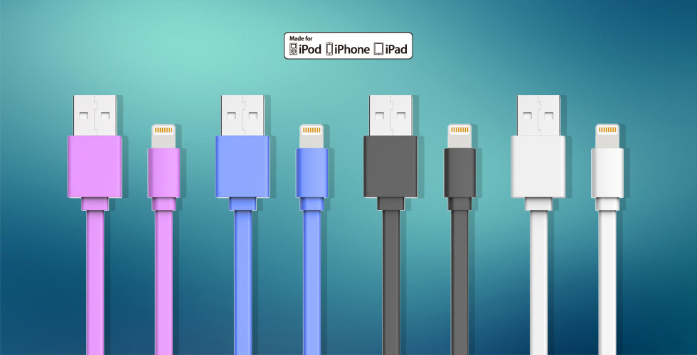 Flat IPhone USB Cable BW-CA25IP