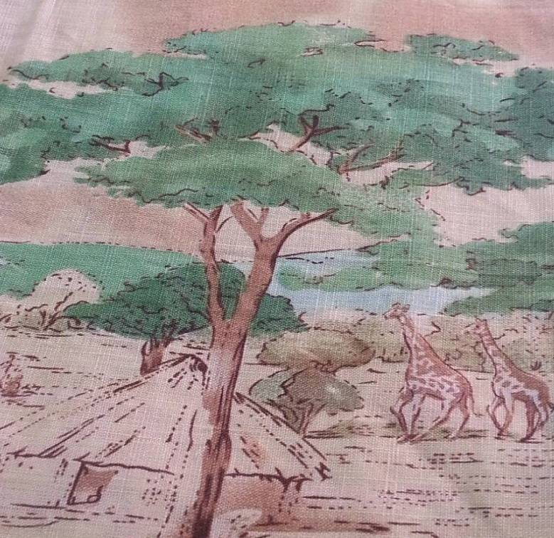 Linen Printed Fabric Upholstery Linen Home Fasion Flax Cloth