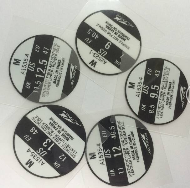 Footwear heat transfer labels