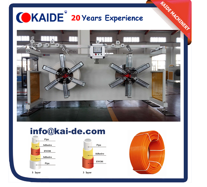 Double Station plastic pipe coiling machine