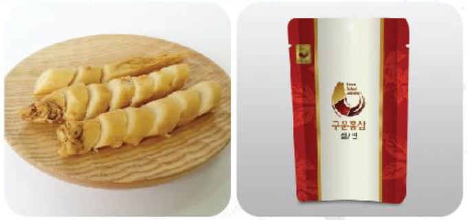 Baked red ginseng slice