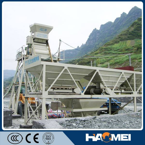 yhzs50 mobile concrete batching plant