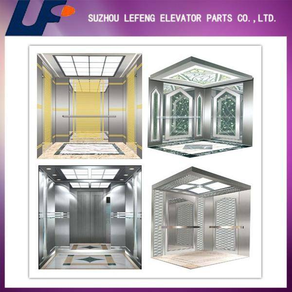 Stainless Steel elevator cabin with frame/optional lift cabin decoration