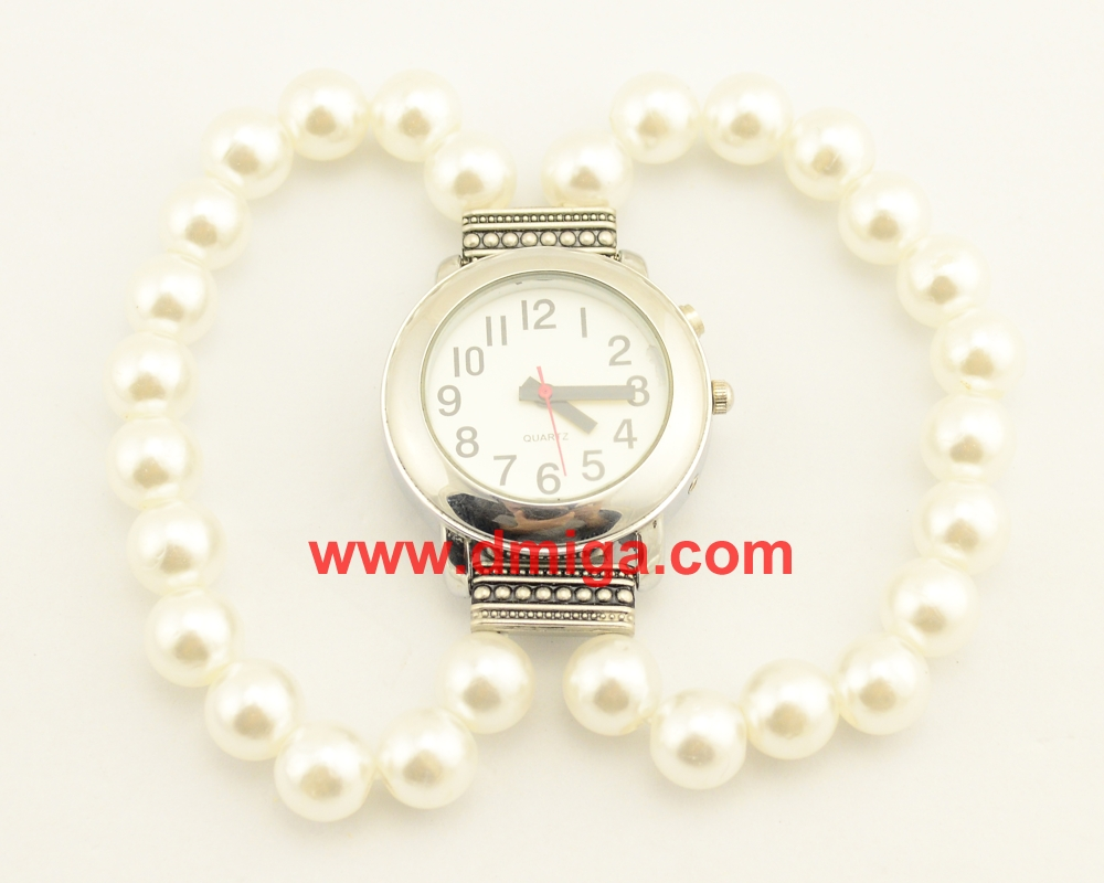 Pearl bracelet Wristwatch talking watch for lady