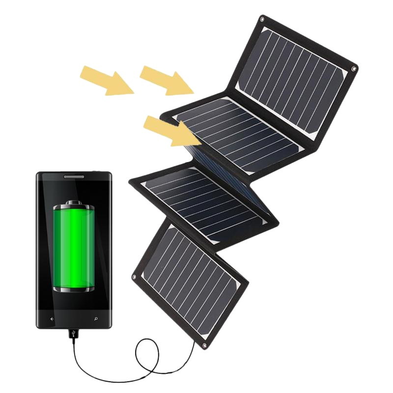 36W 5V Folded Flexible Solar Pack Charger with USB charging port