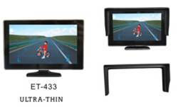 4.3 inch Universal CCTV TFT Monitor ET-DV 433 with DVR LCD Sunshade