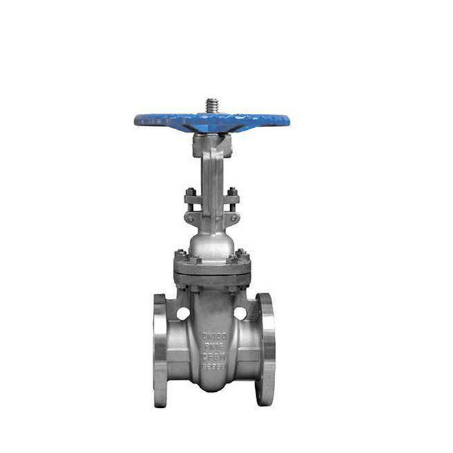 DIN PN16 stainless steel flanged gate valve