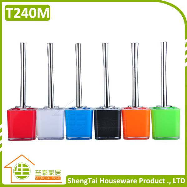 Unique Design Colorful Plastic Stainless Steel Toilet Brush With Long Handle