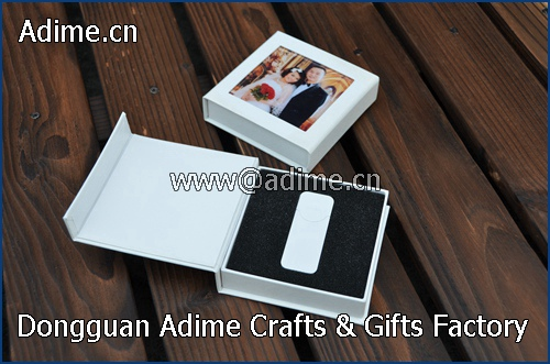 Fabric Linen Wedding USB Flash Drive Packaging Gift Box