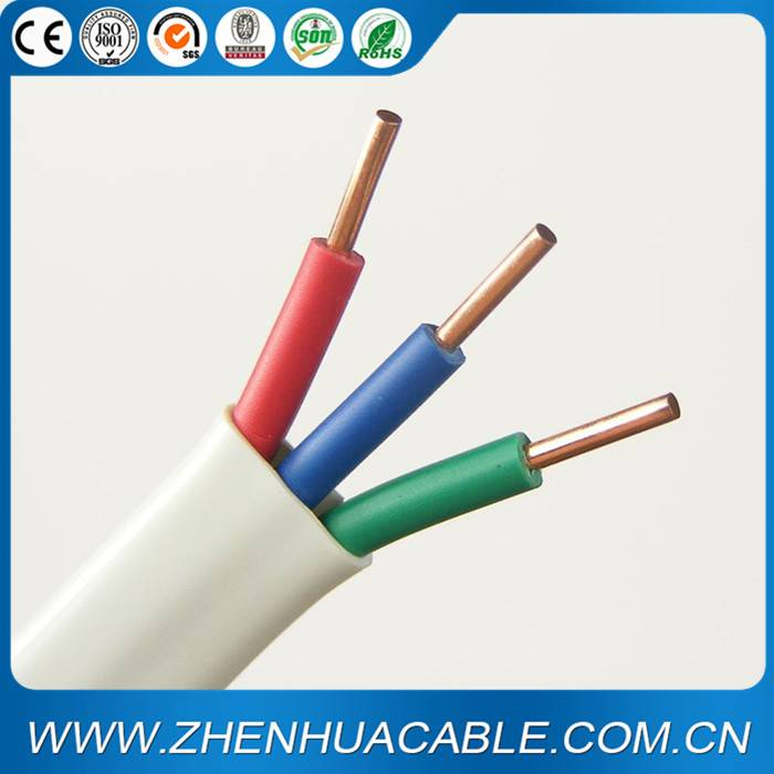 3core Flat Copper Electric Cable 3X1.5mm 3X2.5mm