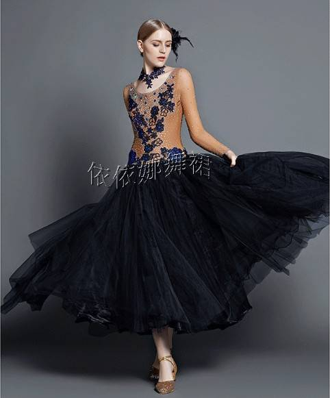 Custom-Made Ballroom Dance Dress Dancewear
