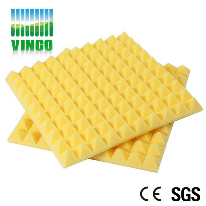 Recording room sound system Colorful and shock absorption studio foam pyramids for hotel