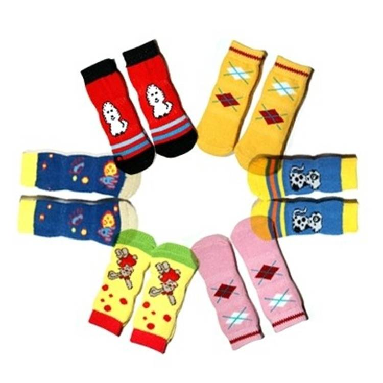 Non-slip Sole Three Section Longer  Pet Socks