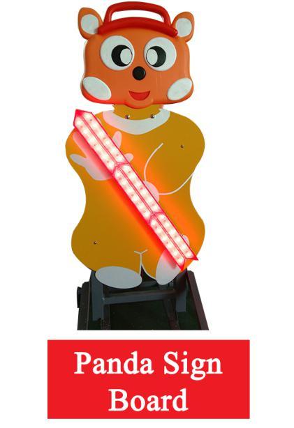 panda sign board