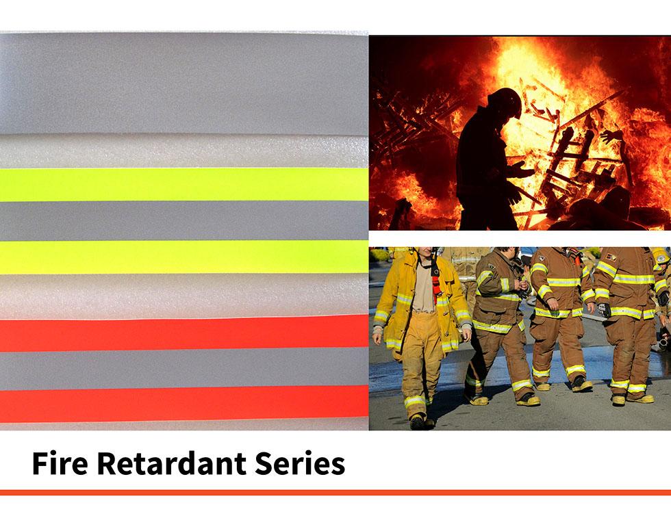 Fire Retardant Reflective Glassbead Tape ISO20471 EN471 ANSI107 Reflective Safety clothing workwear