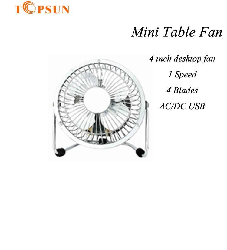 Mini Small Electric Metal 4 inch 10cm Table desktop Fan