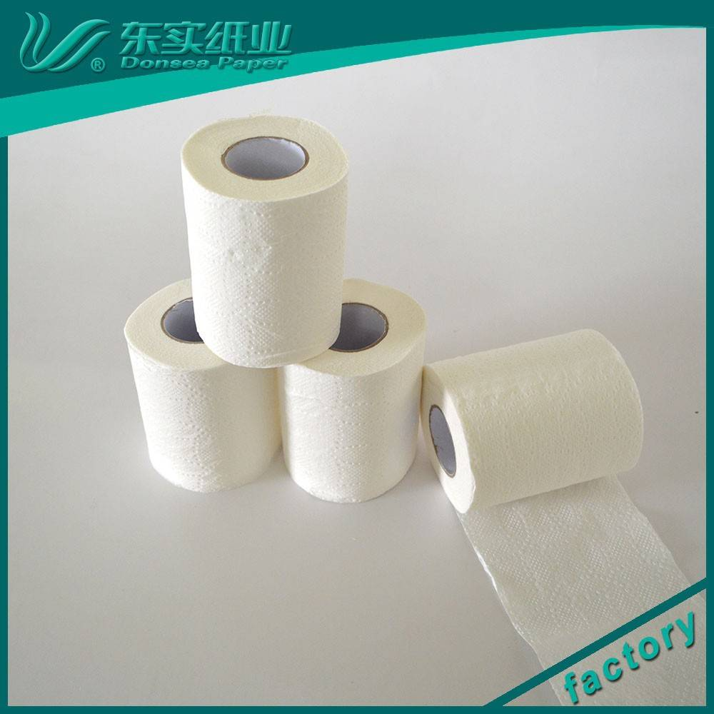 100% virgin bamboo pulp bathroom paper factory/ toilet paper roll tissue