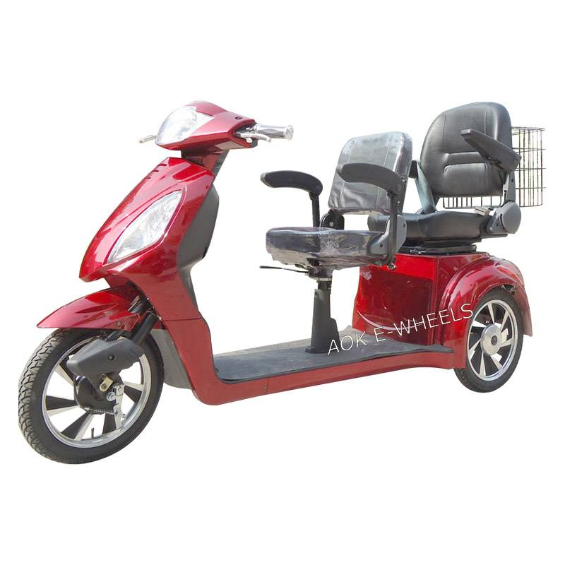 500W/800W Motor Disabled Electric Mobility Scooter with Deluxe Saddles