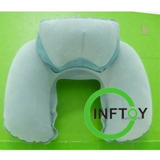 Neck inflatable pillows for airplane