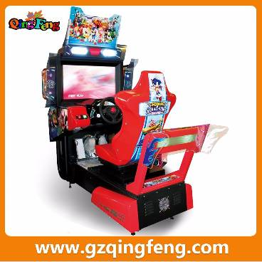 Guangzhou Qingfeng Dirty Driving coin operated 7d simulator arcade racing car game machine