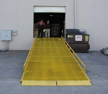 10 ton used mobile dock ramp for loading containers