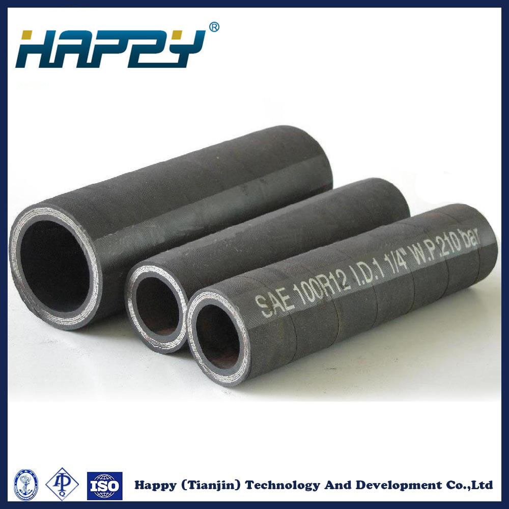 R12 Wire Spiral Super Flexible Rubber Hose Hydraulic Pipe