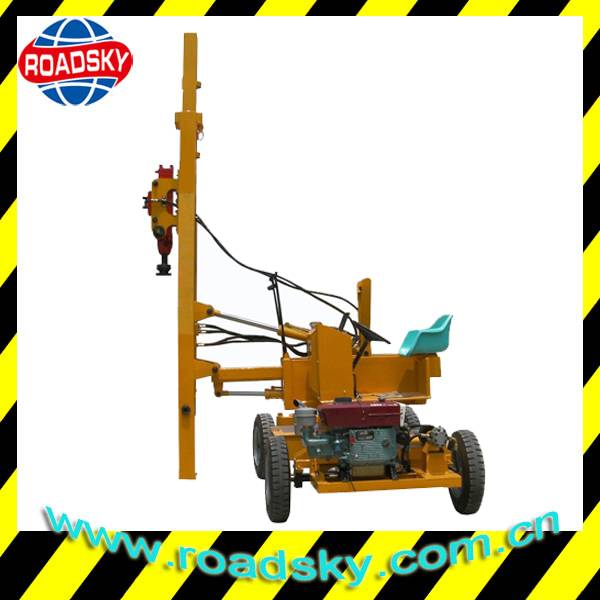 Road Safety Metal Guardrail Pile Driving Machine
