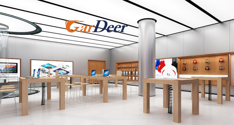 High end customized professional luxurious mobile phone store interior design for apple store experi