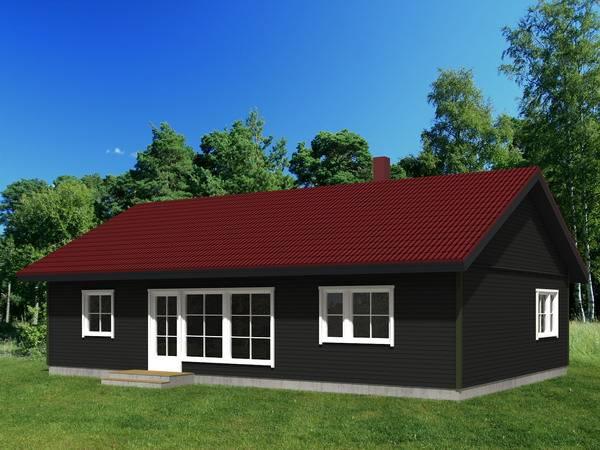 One storey Farm House Prefab House Light Gauge Steel Building