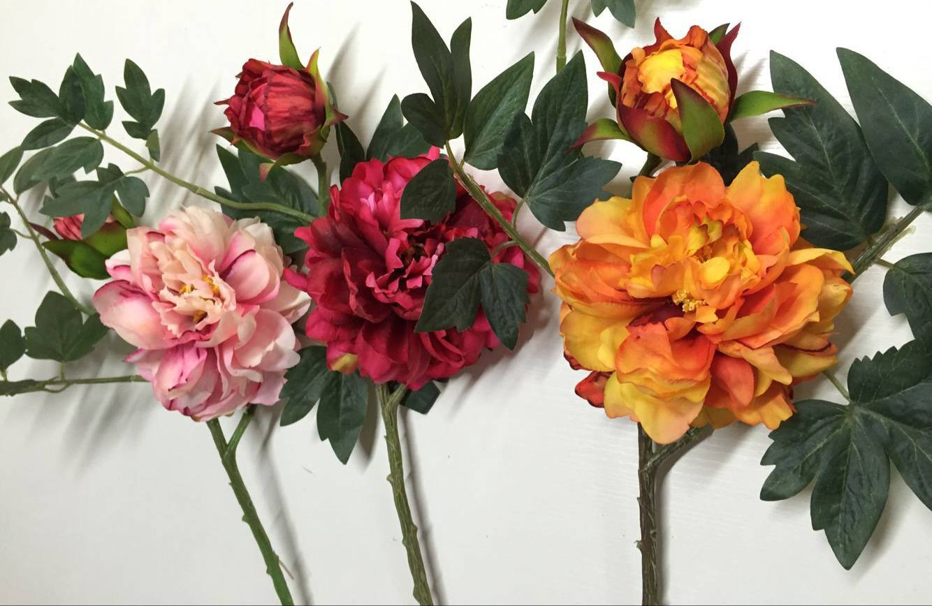 factory directly supply artificial peony flower for wedding decoration