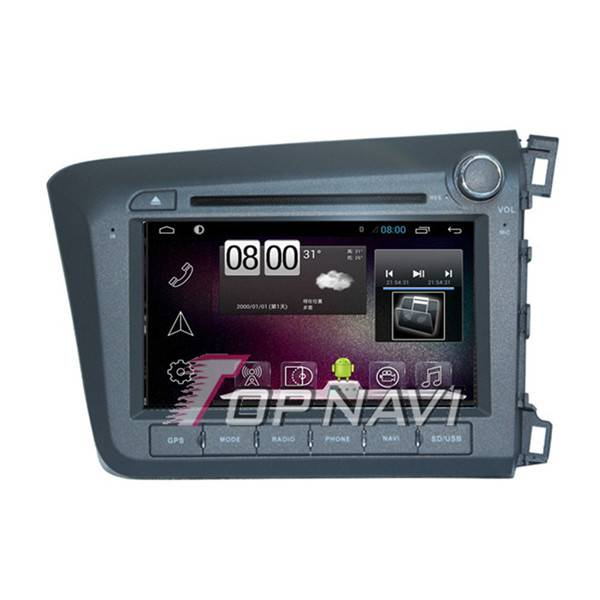 800*480 8inch Android 4.4 Car DVD Player For Honda Civic 2012 RHD GPS Navigation