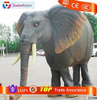 Life size mascot adult walking Elephant realistic animal costumes