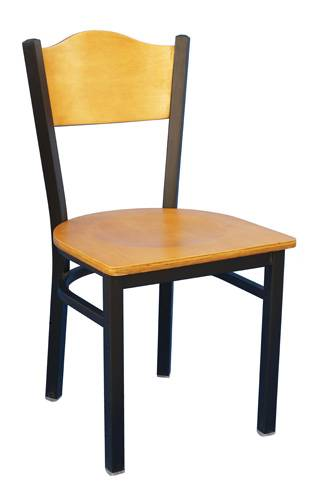 The crown panel back metal chair restaurant chair dinning room chair