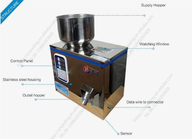 Granule particle dosing/weighing filling machine/quantitative weithter filler machine/bean tea bean