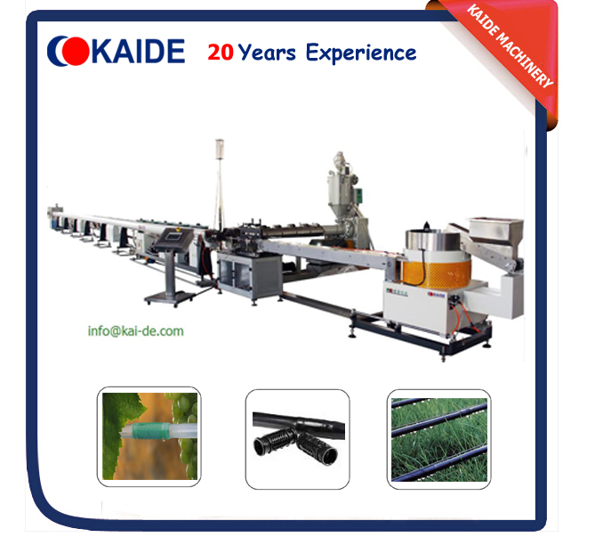 inline round drip irrigation pipe making machine for sale
