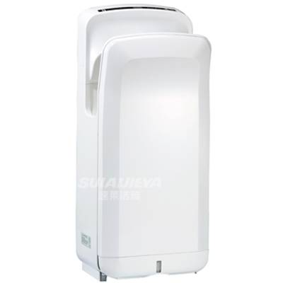 Standing plastic jet air hand dryer for bathroom
