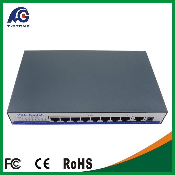 Inquiry about 9 Gigabit port POE switch 802.3 af RJ45 switch port with 1 1000M Uplink Port