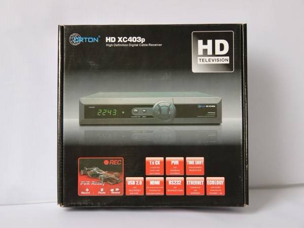 DVB-S2 X403P digital satellite receiver