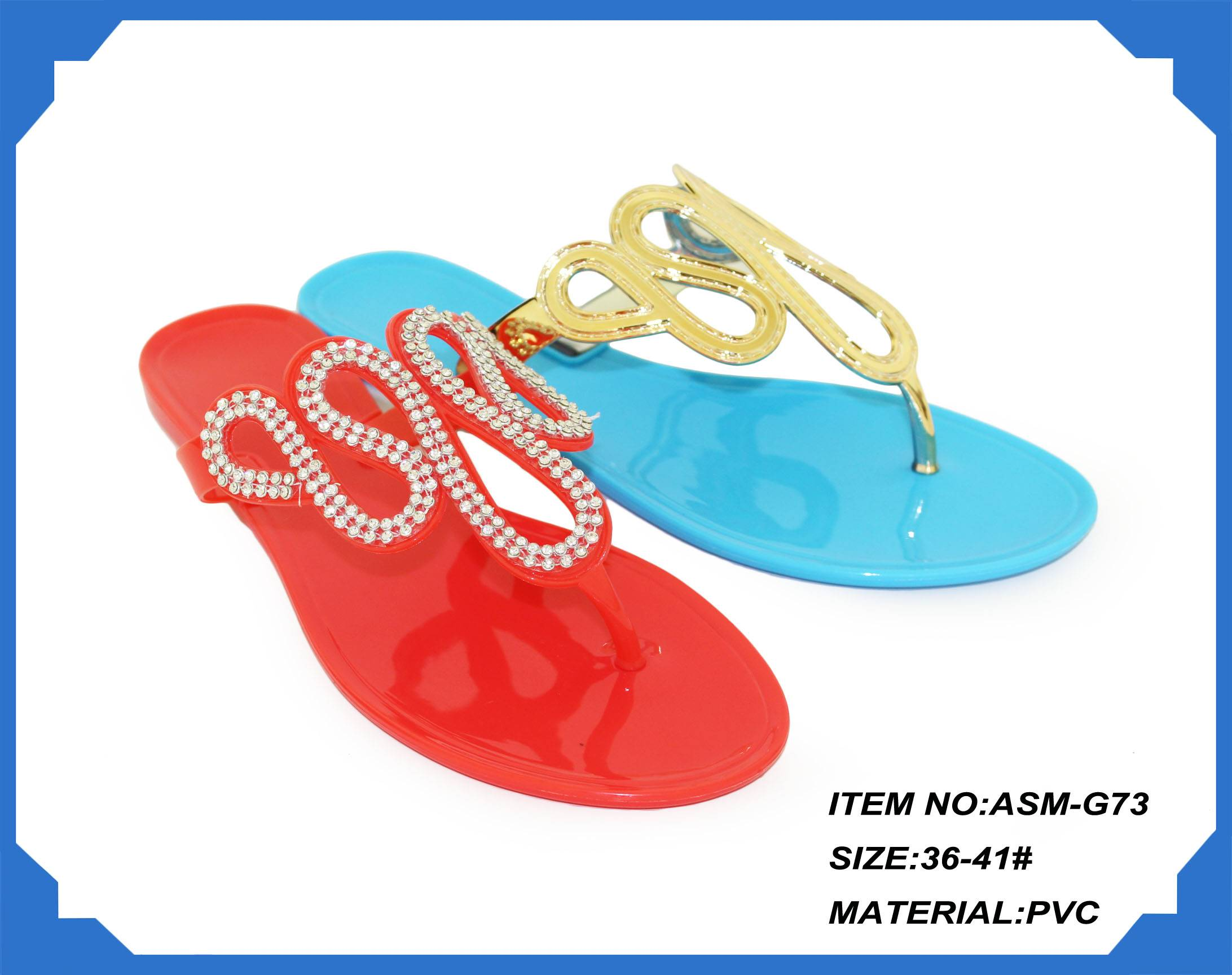 Ladies PVC fashion slippers new design for 2014
