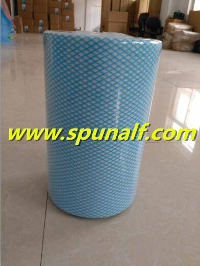 Customized spunlace nonwoven fabrics for cleaning
