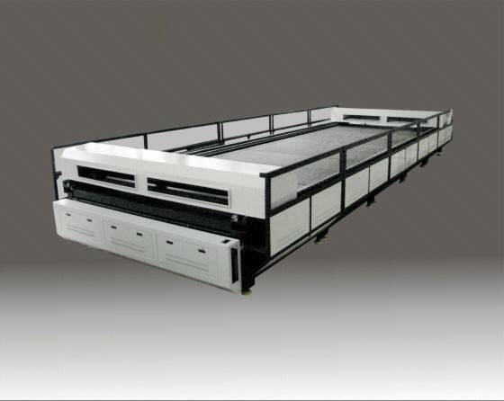 Large size laser cutting machine for parachute