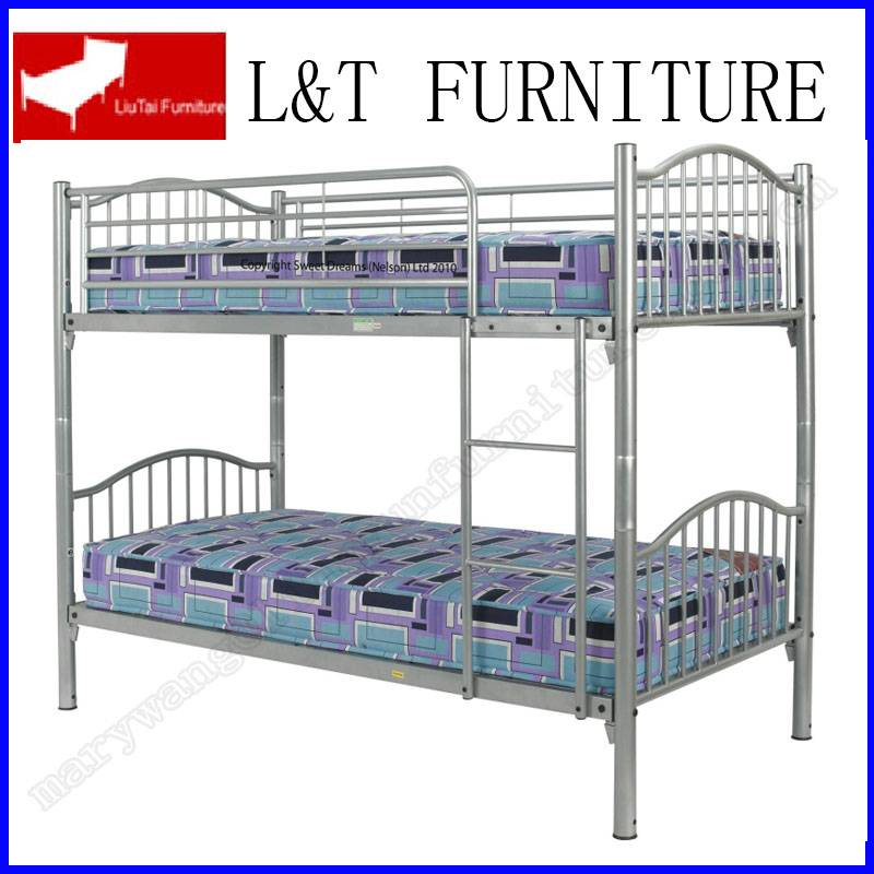 metal bunk bed twin/twin size grey color