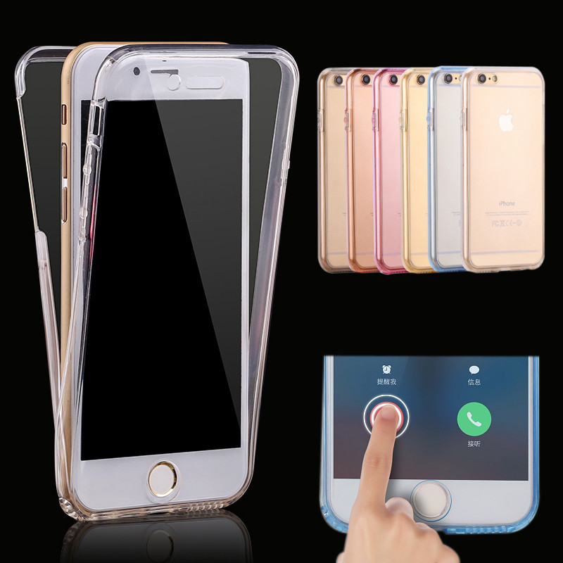 360 full TPU soft clear protector mobile phone case cover for iphone for samsung for Huawei....