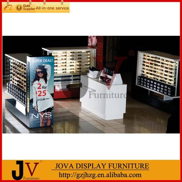 fashionable optical shop decoration sunglasses shelf display