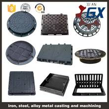 Round And Square Ductile Manhole Cover, EN124 Heavy Duty Ductile Cast Iron Manhole Cover